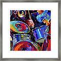 Drums And Friends Framed Print by Debra Hurd