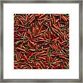 Drying Red Hot Chili Peppers Framed Print