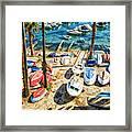 Dubrovnik Croatia - Sea Of Boats Framed Print