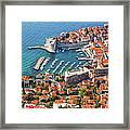 Dubrovnik From Above Framed Print