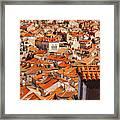 Dubrovnik Orange Old Town Rooftops Framed Print
