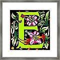 E In Green Framed Print