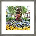 Easter Bunny Topiary Framed Print