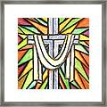 Easter Cross 5 Framed Print
