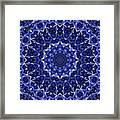 Electric Blue Mandala Framed Print