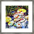 Electric Lillypads Framed Print