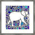 Elephant Rocker Blue Magoo Framed Print