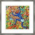 Encaustic  Man  Jumping Framed Print