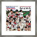 End Of The Curse Red Sox Newspaper Poster Framed Print