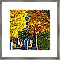 End Of The Road Impasto Framed Print