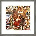 English Christmas Cards Framed Print