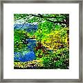 English Country Lake 1d Framed Print