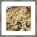Eroding Graffiti Cliff 2 Framed Print