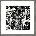 Evil In Black And White Framed Print