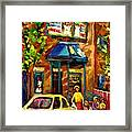 Fairmount Bagel In Montreal Framed Print