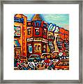 Fairmount Bagel With Hockey Framed Print
