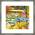 Fall Colors On The Lily Pond Framed Print