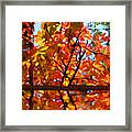 Fall Reflextion Framed Print