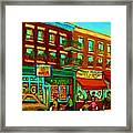 Family Frolic On St.viateur Street Framed Print