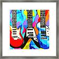 Fancy Guitars Framed Print
