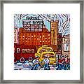 Farine Five Roses Montreal 375 Hometown Hockey Hotel Bonaventure Tour Bus Canadian Art C Spandau Art Framed Print
