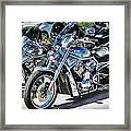 Fat And Glitzy Harleys Framed Print