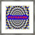 Fernando Framed Print