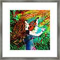 Fiddling Toward The Sun Framed Print