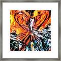 Fiery Crystal Framed Print