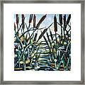 Fire And Dragonflies Framed Print