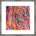 Fire. Colorful Painter Palette. Exhausted Paint And Abstract Painting. Framed Print