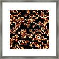 Fire Jumble Framed Print