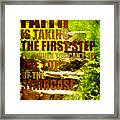 First Step Framed Print by Bonnie Bruno
