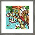 Fish House-cedar Key Framed Print