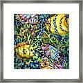 Fish Tales Iv Framed Print by Ann  Nicholson