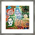 Five Girls Framed Print