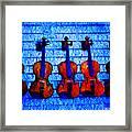Five Violins Framed Print