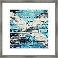 flag of Scotland painted on old brick wall Framed Print