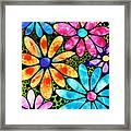 Floral Art - Big Flower Love - Sharon Cummings Framed Print