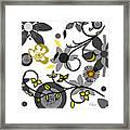 Floral Collision Framed Print