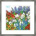 Floral Fusion Framed Print