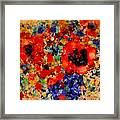 Floral Happiness Framed Print