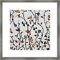 Floral Satin Framed Print