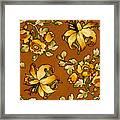 Floral Textile Design Framed Print