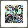 Flower Garden Blues Framed Print