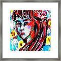 Flower Girl Portrait  Framed Print