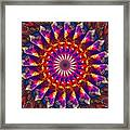 Flower Of The Mind  12- Universal Light And Color Framed Print