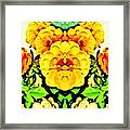 Flower Teddy Framed Print