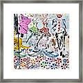 Flowered Mural Framed Print