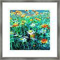 Flowerfield Framed Print